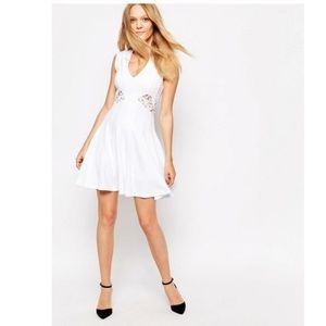 French Connection Marie Stretch Embroidered Dress